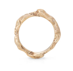 Stony Coral Ring 9ct Yellow Gold