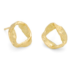 Whorl Studs 18ct Yellow Gold