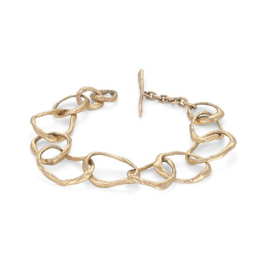 Stone Drawing Bracelet 9ct Gold