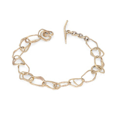 Pebble Drawing Bracelet 9ct Gold