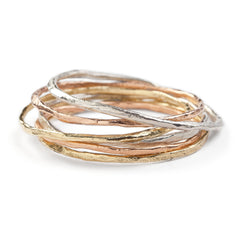 Rock Fine Bangle 18ct Gold