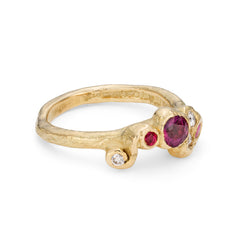 Deep Red Sea Whorl Ring