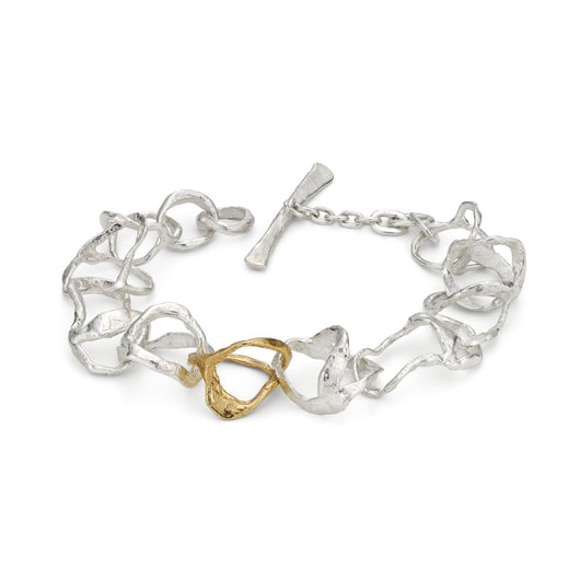 Tangle Bracelet Silver and 9ct Gold