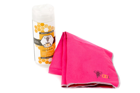 beeCool Cooling Towel - Pink