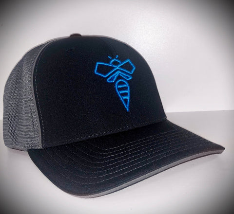 NEW beeCOOL HOOT (blue Logo) Flex-Fit