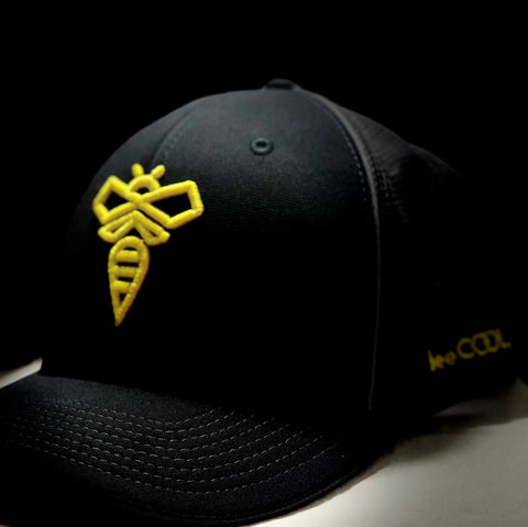 beeCOOL HAT Black/Yellow Flex-Fit