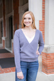 Surplice Knit Sweater
