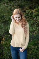 Knit Mock Neck Long Sleeve Top