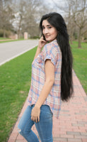 Short Sleeve Plaid Button Up