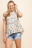 Floral Babydoll Button up Shirt
