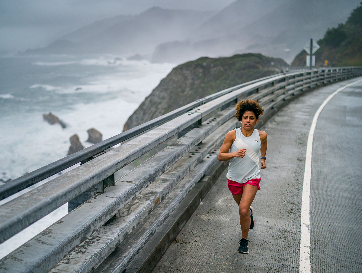 Maor Tiyouri running in Big Sur