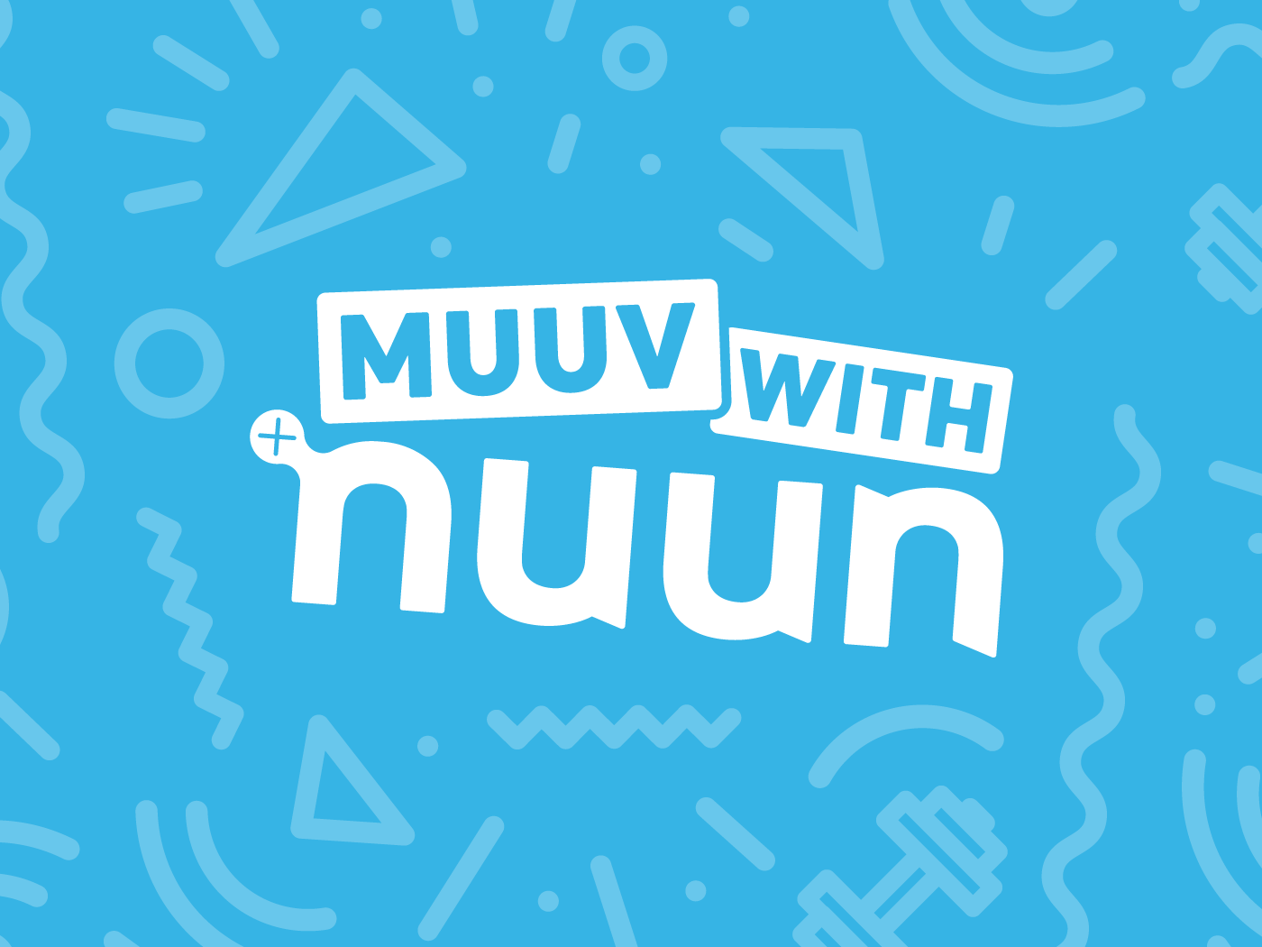 muuv with nuun graphic with blue background