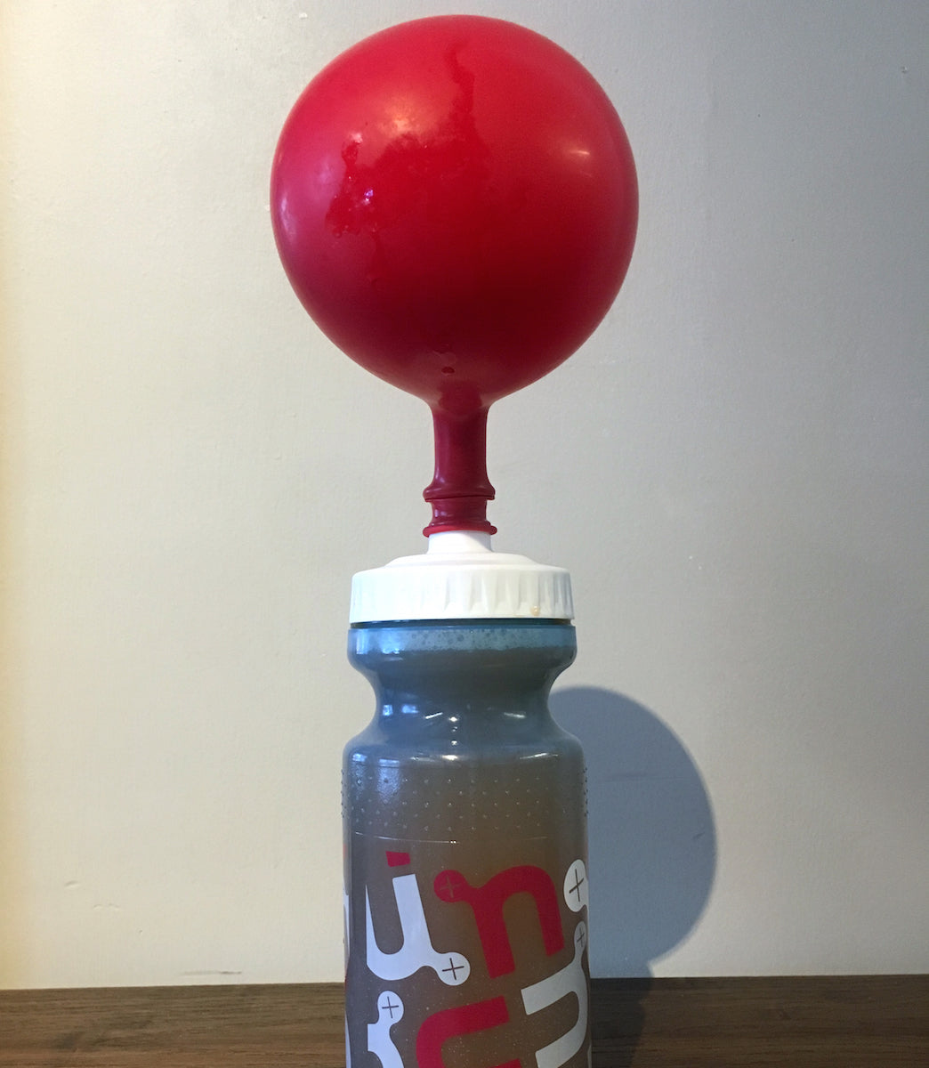 Nuun water bottle with red balloon
