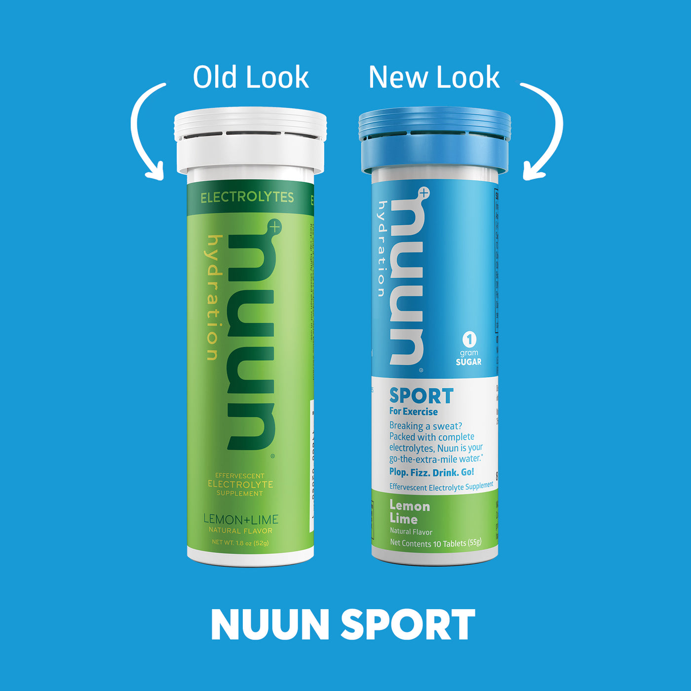 Nuun Sport: Old look and New look