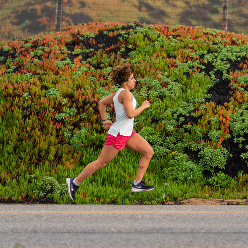 A Nuun athlete running on the road