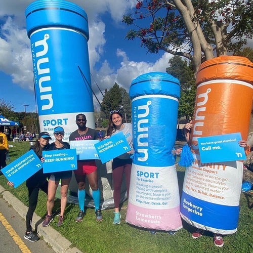 A Nuun cheering station