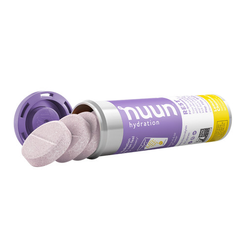 An open tube of Nuun Rest