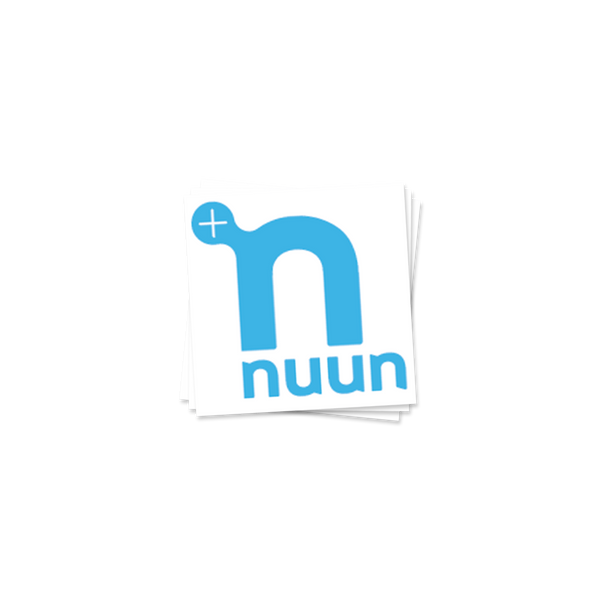 "2"" x 2"" blue Nuun logo temporary tattoos"