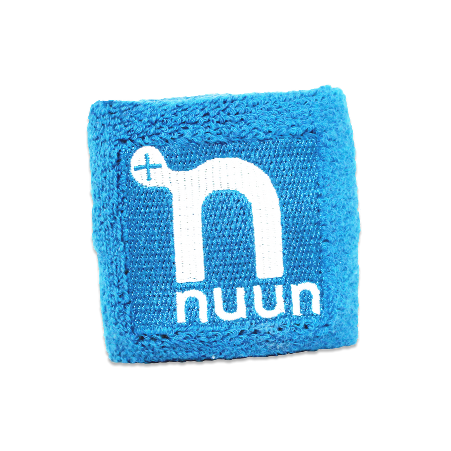 Blue wristband with white Nuun logo