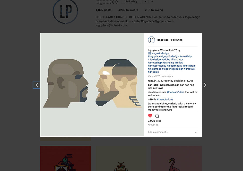logoplace joaugusto mcgregor mayweather illustration