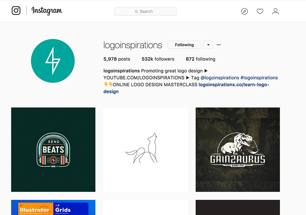 logo inspirations screenshot instagram