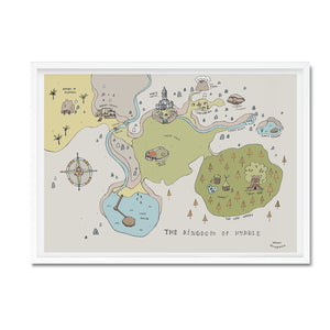 Kingdom of Hyrule illustrated map - Hannah Detterbeck - Mapsy