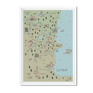 Narnia illustrated map - Hannah Detterbeck - Mapsy