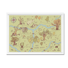 Hundred acre wood illustrated map - Hannah Detterbeck - Mapsy