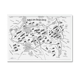 Brecon Beacons National Park Map - Dan Bell - Mapsy