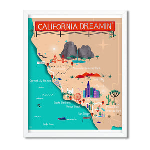California Dreamin' illustrated map - Carolin Eitel - Mapsy