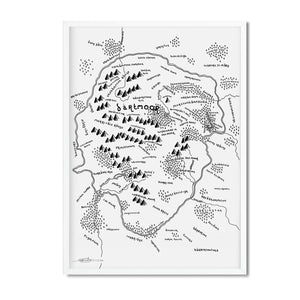 Dartmoor National Park Map - Dan Bell - Mapsy