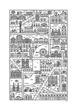 London illustrated map print