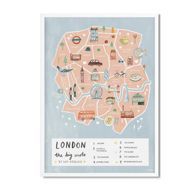 London map illustrated print - Livi Gosling - Mapsy