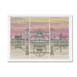 London landmarks sunset print - Amalia Sanchez