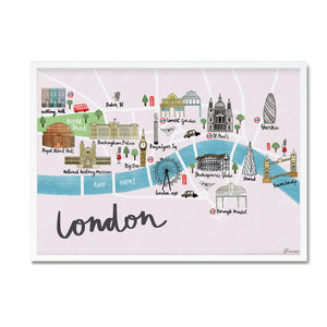 London map illustrated print - Sarah Frances - Mapsy