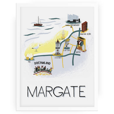 Margate map print - Alex Foster - Mapsy