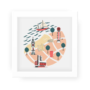 Margate coast map print - Alex Foster - Mapsy
