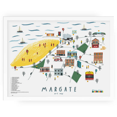 Margate art map print - Alex Foster - Mapsy