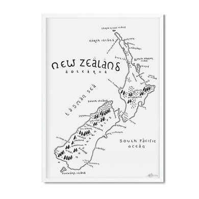 New Zealand map print - Dan Bell - Mapsy