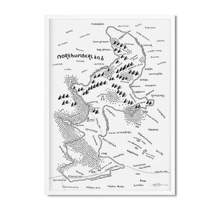 Northumberland National Park Map - Dan Bell - Mapsy