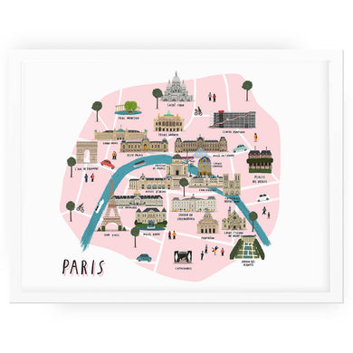 Paris Map - Alex Foster - Mapsy