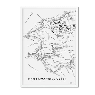 Pembrokeshire Coast National Park Map - Dan Bell - Mapsy