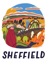 Sheffield illustration print