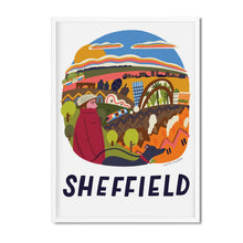 Sheffield illustration print framed