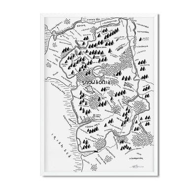 Snowdonia National Park Map - Dan Bell - Mapsy