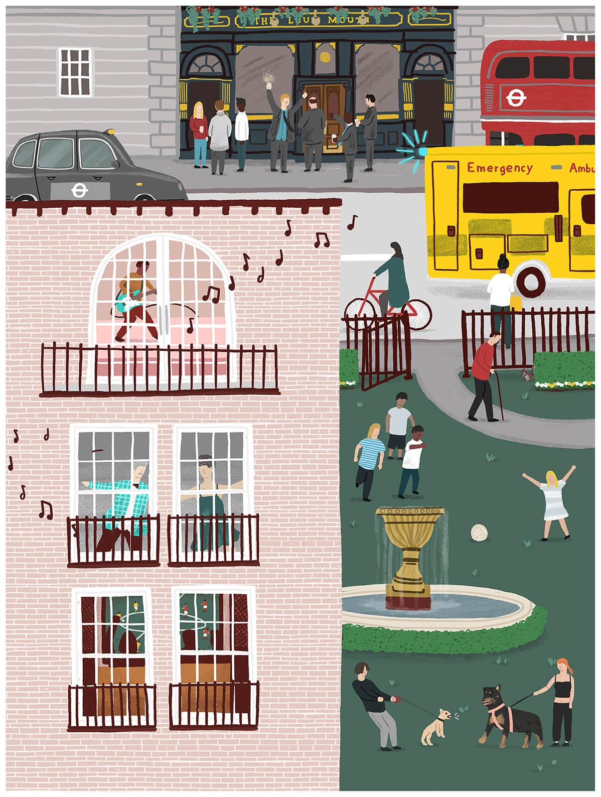 Sounds of the City print - Alex Foster - Mapsy