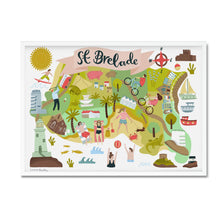 st breland map illustration print