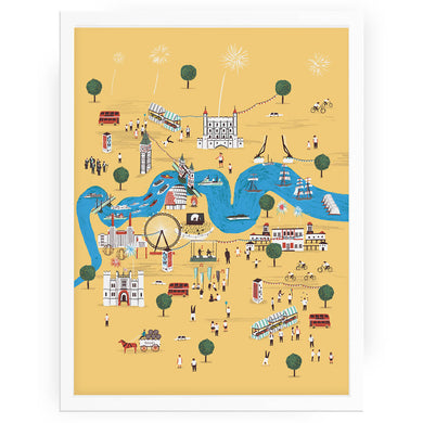 Totally Thames London print - Alex Foster - Mapsy
