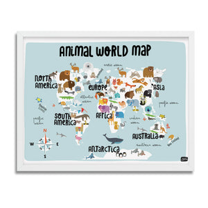 Animal World Map - Anna Zatorska