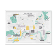London map illustrated print - Mel Smith
